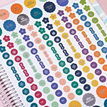 Four Pages of Coiled-in  Stickers