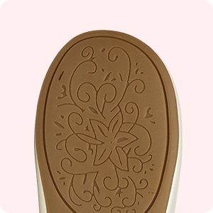 Patterned non-slip sole
