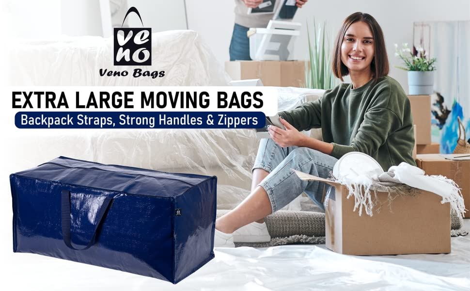 VENO Moving Bags, Alternative to moving boxes, packing boxes, moving supplies, packing supplies