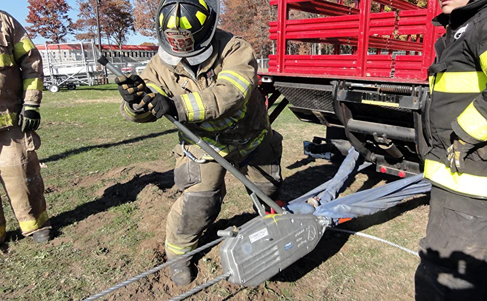 Fire Fighters, griphoist wire rope hoist, rescue