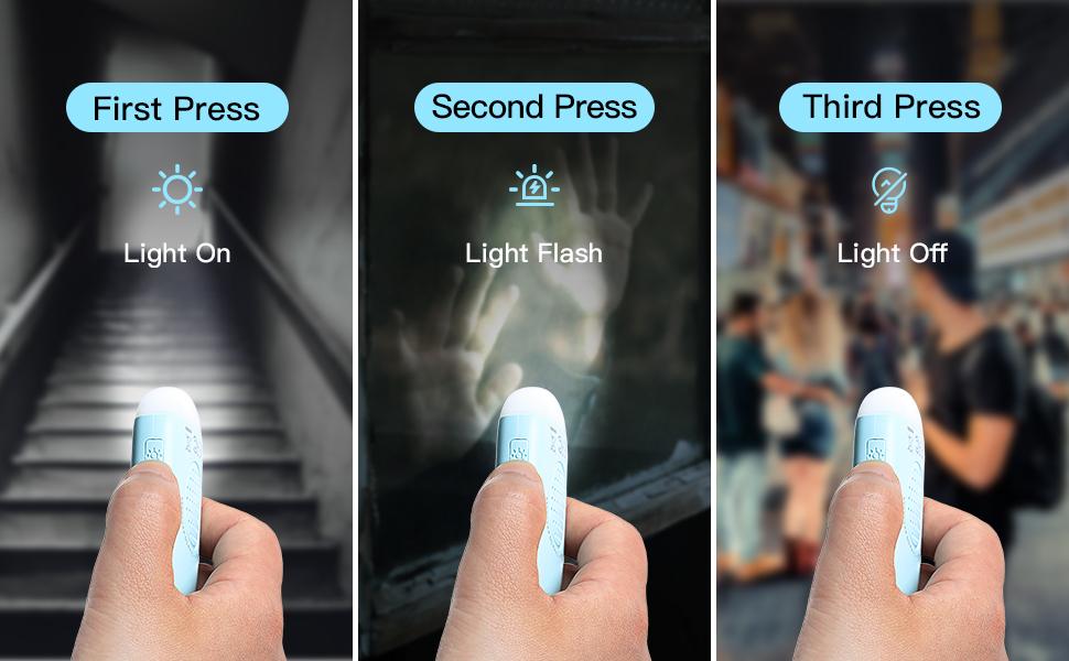 personal alarm led light