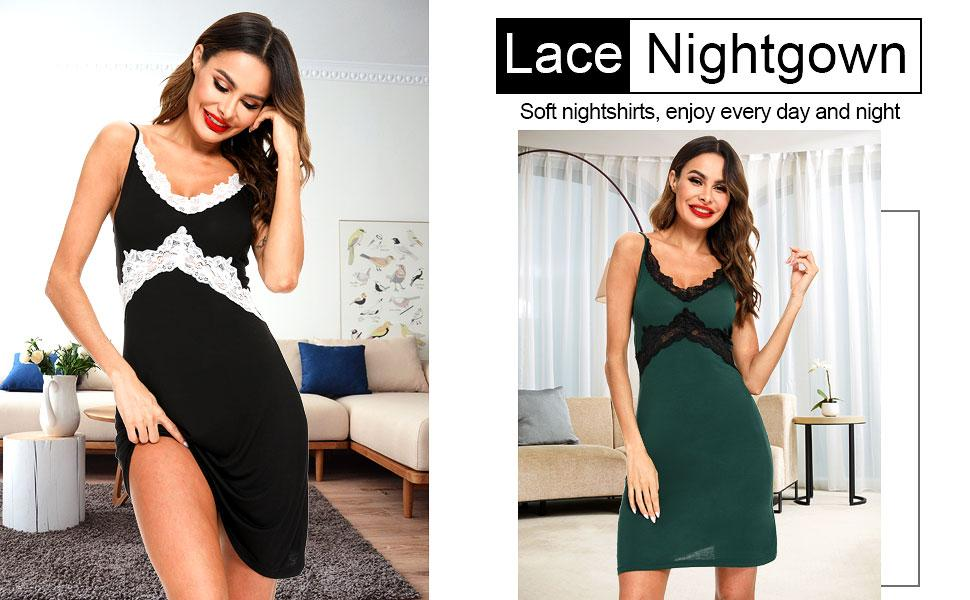women sexy chemise nightgown