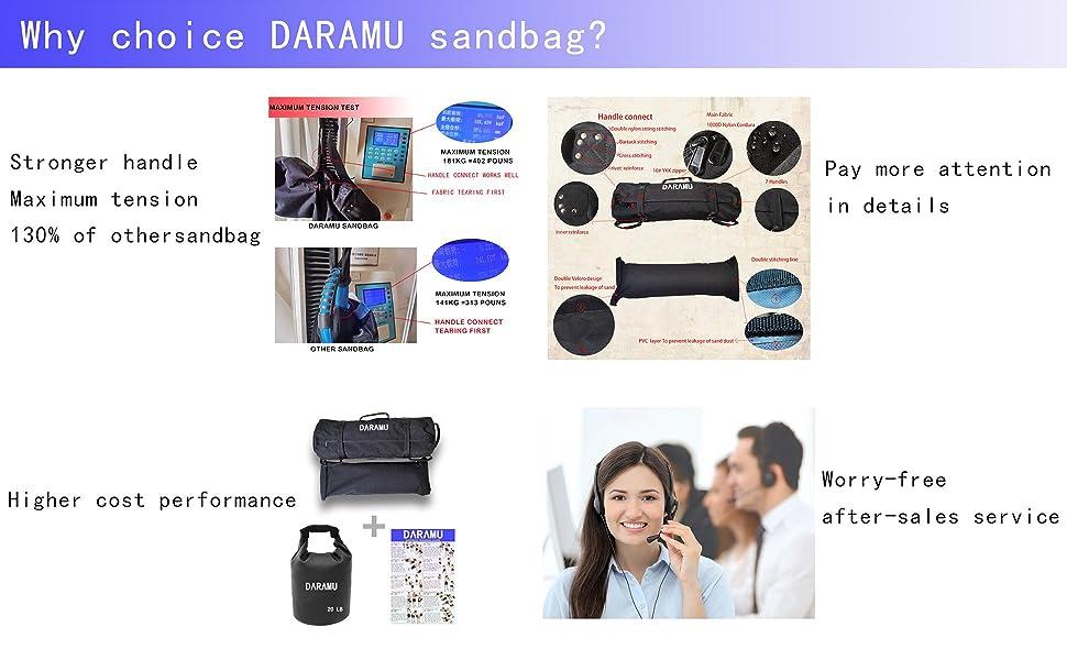why choice Daramu sandbag