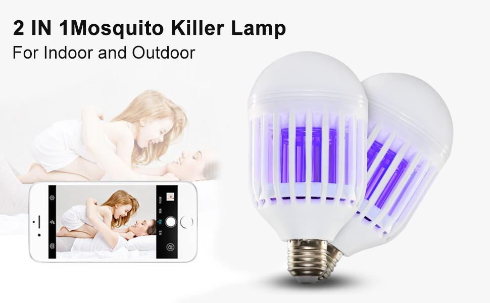 Pest Control Bug Zappers 2 in 1 Mosquito Killer Lamp UV Led ...