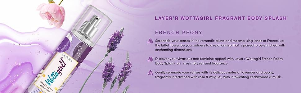 Layer'r Wottagirl French Peony Body Splash