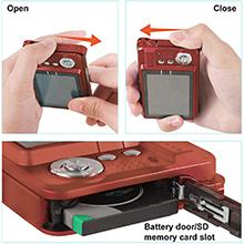how to open the battery