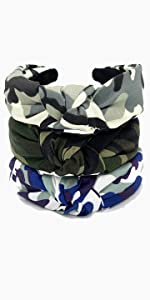 camo knotted headbands