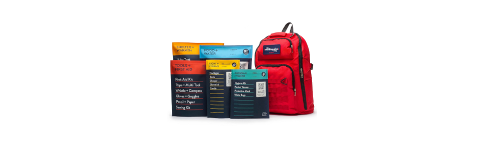 2 PERSON | 3 DAY | RED BACKPACK