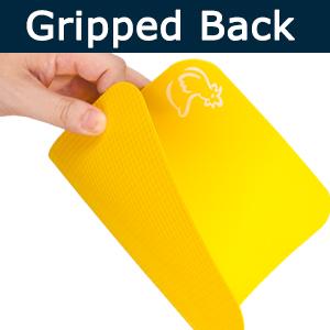 gripped back cutting board anti-slip