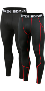 Men's 2 Pack Compression Pants