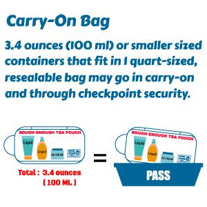 TSA approved regulations for all carry on bag