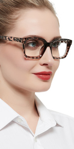 Reading glasses larger reader