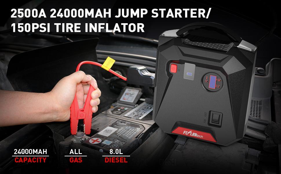 car jump starter jump starter with Air Compressor