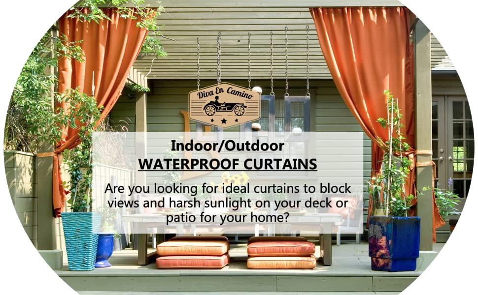 your ideal INDOOR/OUTDOOR  BLACKOUT CURTAINS