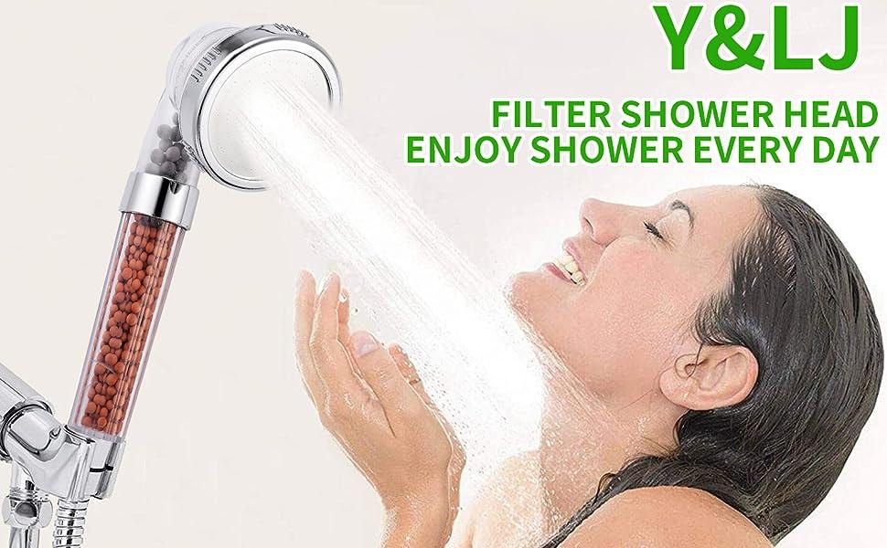 Filter Filtration High Pressure Water Saving 3 Mode Function Spray Handheld Showerheads