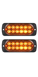 DOT compliant 12-volt aluminum alloy amber LED stop turn signal side-marker lights