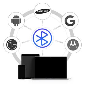 AIHOOR A7 Wireless Earphones Compatible with iPhone, Samsung, Moto, LG, Google Android Phones