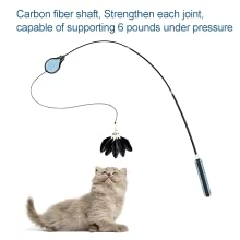 cat string toys for indoor cats cat toy feather replacement hanging cat toys fishing cat toy