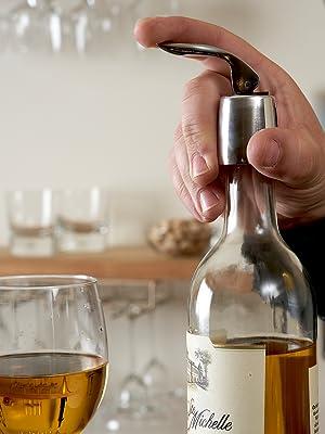 Wine Stopper Gold Wine Rack