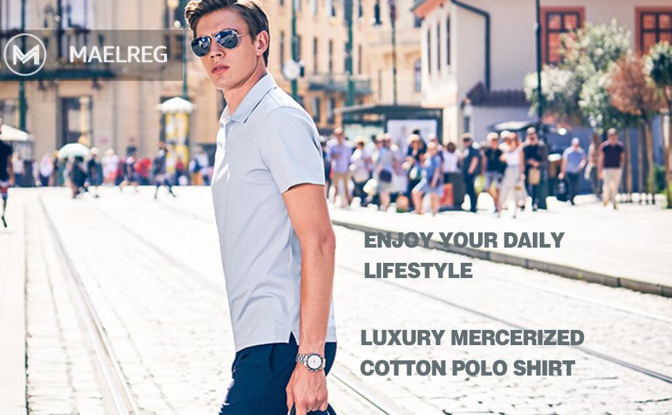 Mens Mercerized Cotton Polo Shirt