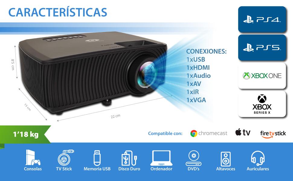 proyector para cine en casa, proyector para ps5, proyector ps4, proyector barato