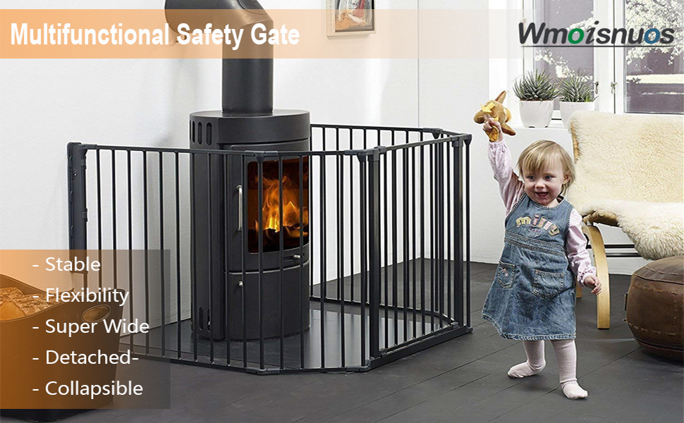 baby gate kids pet gates stair stove fireplace fence barrier tall extra with pets door wide dog gate