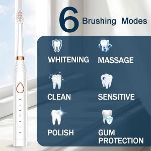 6 Brushing Modes