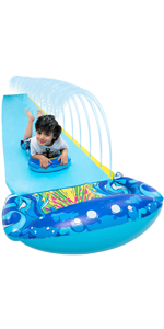 19.2ft x 35.5in Slip and Slide Water Slide with 1 Bodyboard