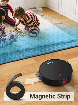 You can use the magnetic stripe to freely set the prohibited area of the robot vacuum