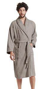 Mens Shawl Collar Terry Cloth Robes