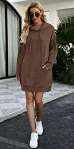 long tunic hooded dress for women hoodies dress for women oversized