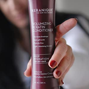 anti thinning hair growth conditioner for damaged hair with keratin and biotin