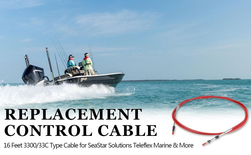 SeaStar Solutions (formerly Teleflex Marine) has set the standard with their Control Cables 16 FT