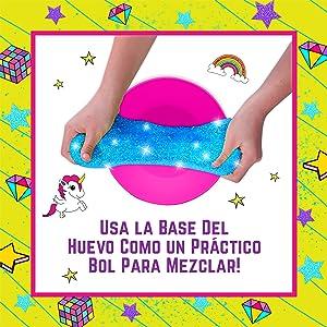 Egg Surprise Slime Kit Huevo de slime regalo para niñas kit cumpleaños para chicas Unicornio
