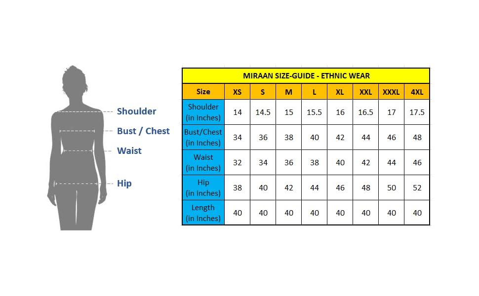 Salwar Size Chart 03072021