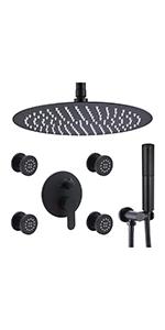 Round 16 inch shower system