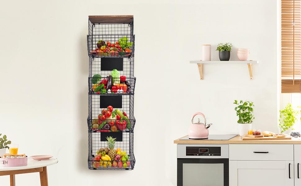 hanging fruit baskets for kitchen hanging baskets for kitchen