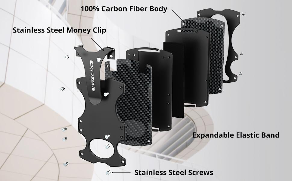 The Extremus Carbon Fiber Tactical Wallet is extremely light and ultimately durable.