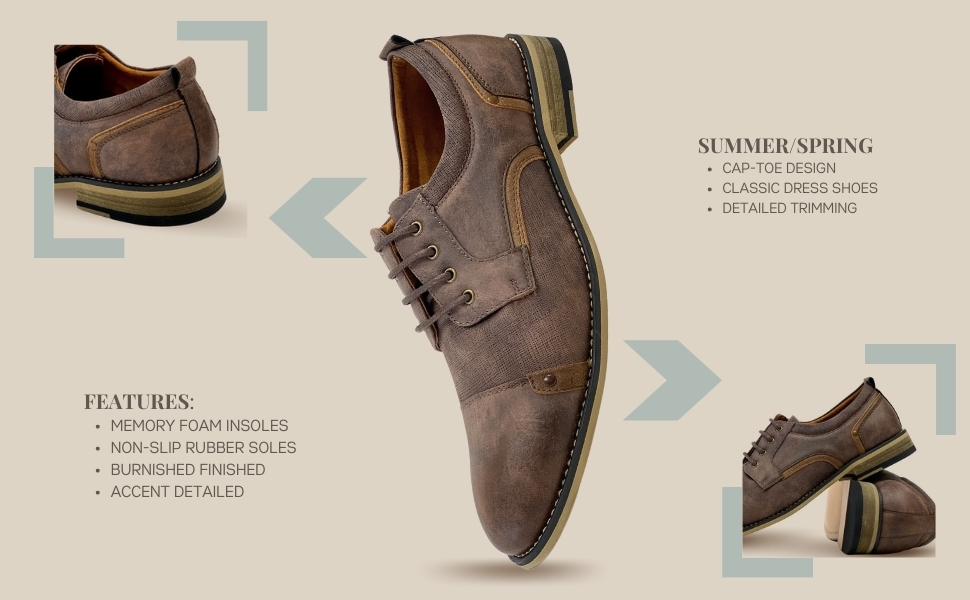 ron, brown, wing tip shoes, dress shoes, golf shoes