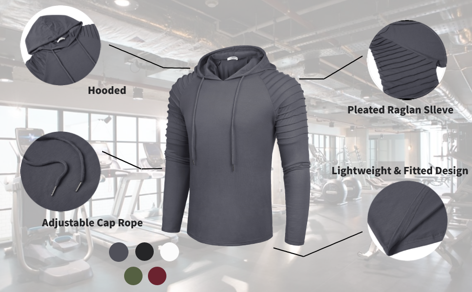 mens gym workout hoodie