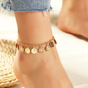Sizes 6-12 inchs Women Accessorie Natural Tan Anklet for Women Beach Anklet Flower Ankle Bracelet 4mm Leather