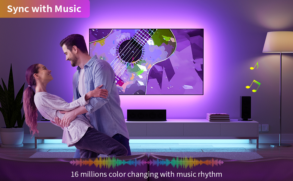 tv led backlight sync with music