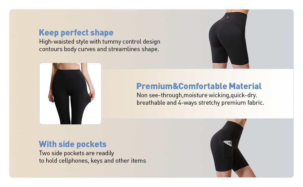 """AFZ Women's 2""""/4""""/6""""/8""""with Side Pocket"""