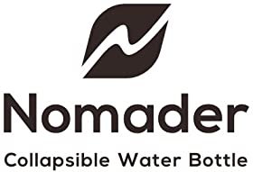 Nomader logo with words Collapsible water bottle