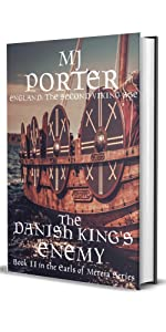 The Danish King's Enemy cover, showing a ship with many shields on the side
