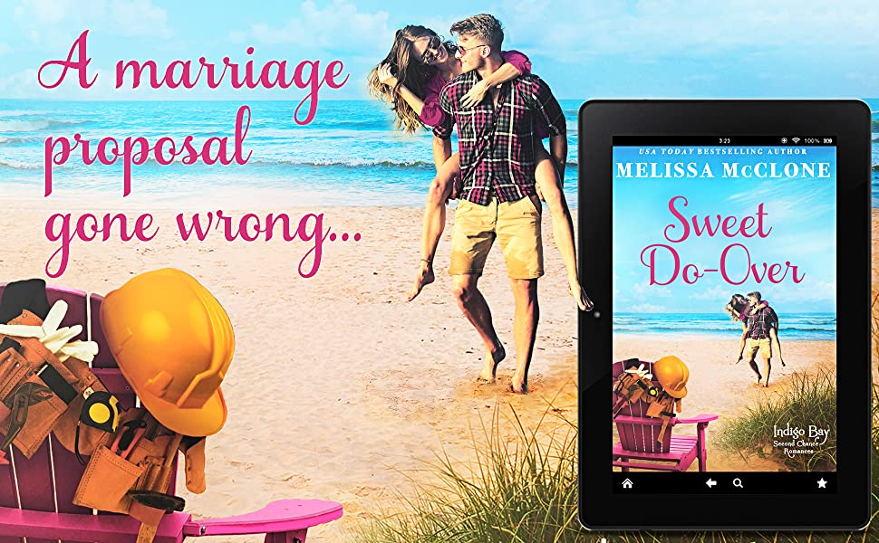 Sweet Do-over ebook with couple on beach and words: A marriage proposal gone wrong.