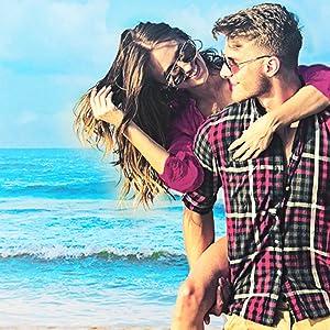 Couple on the beach.