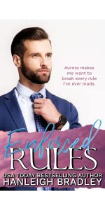 Woman sitting next to window. Enforced Rules book cover. Author Hanleigh Bradley.