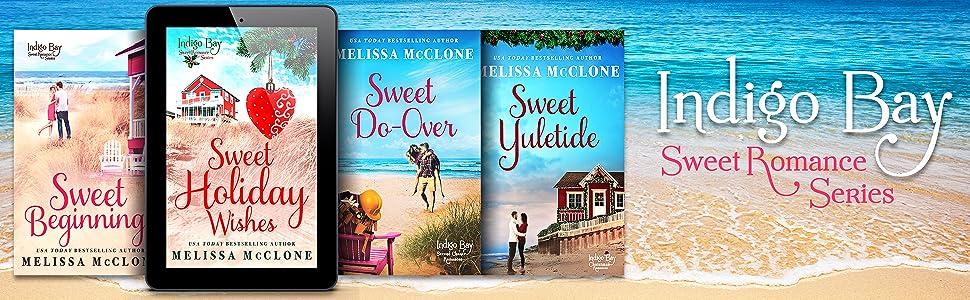 four books in indigo bay sweet romance series by Melissa McClone