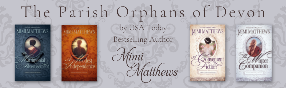 The Parish Orphans of Devon by USA Today bestselling author Mimi Matthews